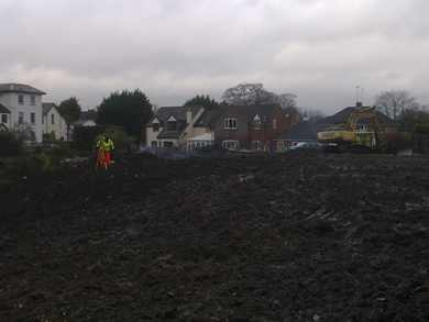 Land surveying in the muddy depths of winter